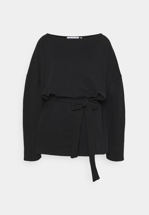 BELTED LONG SLEEVE - Bluza - black