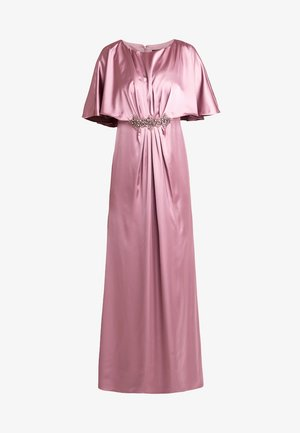 DRAPED CAPE LONG DRESS - Galajurk - rose