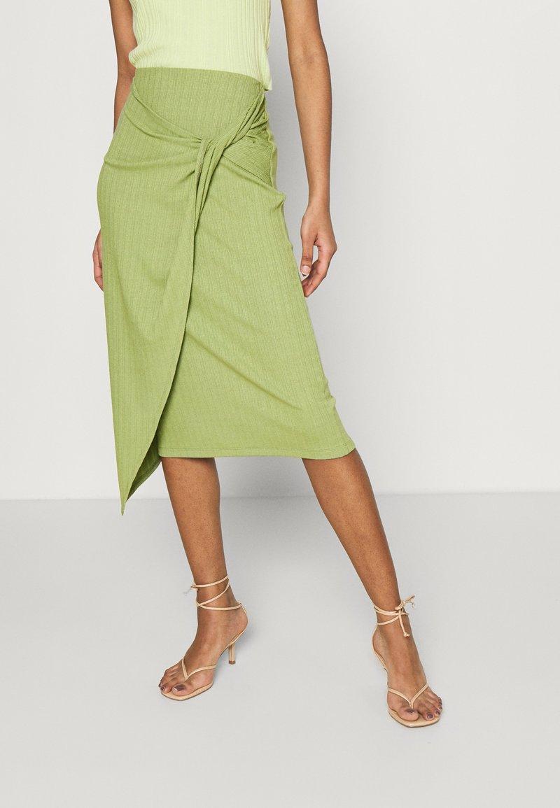 EDITED - BEKE SKIRT - Wrap skirt - oliv