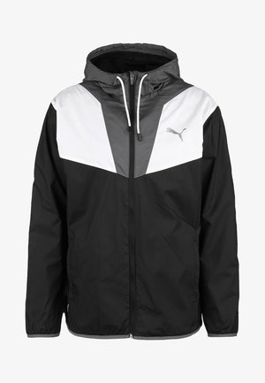 Training jacket - black/castlerock/white