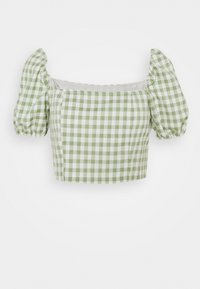 MAYA WITH PUFF SHORT SLEEVES AND LOW NECKLINE - Blouse - mint