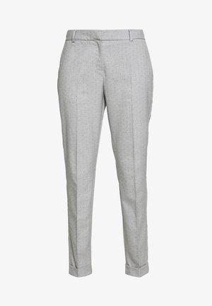 SLFLUNA PANT - Spodnie materiałowe - light grey melange