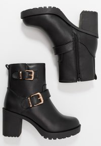 Anna Field Wide Fit - Platform ankle boots - black - 3
