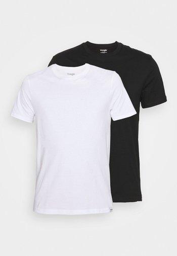 TEE 2 PACK - T-shirt - bas - black