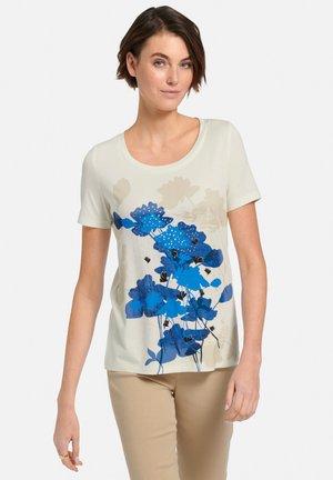 T-shirts print - offwhite/blau