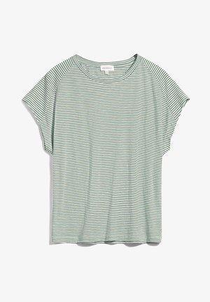 OFELIAA PRETTY - Print T-shirt - eucalyptus green-oatmilk