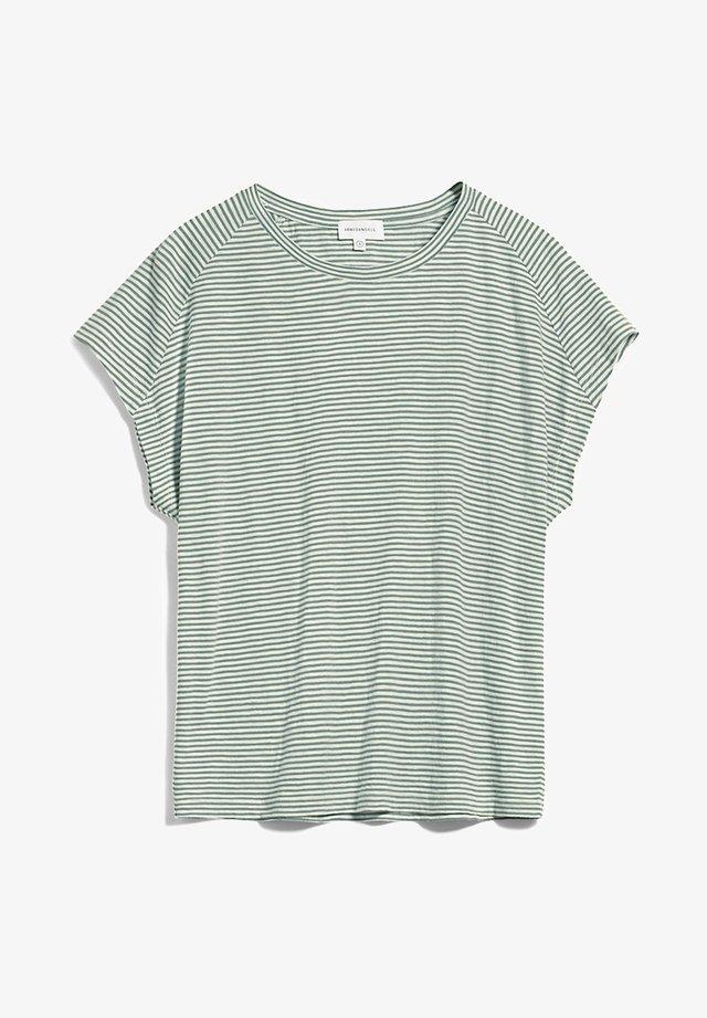 OFELIAA PRETTY - T-shirt print - eucalyptus green-oatmilk