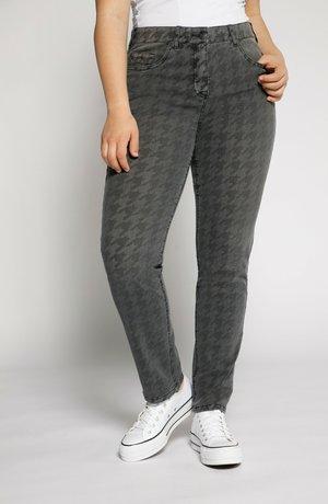 große Größen  Hahnentrittmuster - Slim fit jeans - dunkelgrau denim