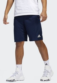 adidas Performance - SPORT 3-STRIPES SHORTS - Sports shorts - blue - 0