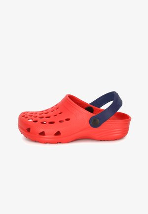 Clogs - red/navy