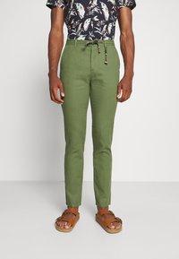 Springfield - PANT BEACH - Trousers - dark khaki - 0