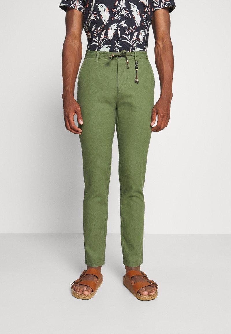 Springfield - PANT BEACH - Trousers - dark khaki