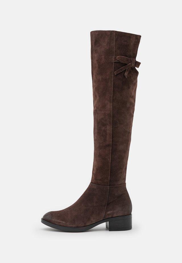Over-the-knee boots - moka
