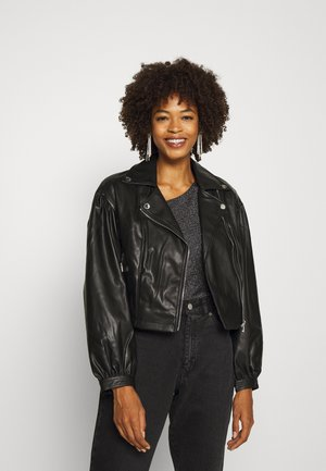 DARYL JACKET - Faux leather jacket - jet black