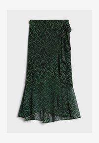 Bershka - MIT PRINT  - A-line skirt - black - 4