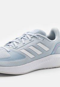 adidas Performance - RUNFALCON 2.0 - Neutral running shoes - halo blue/footwear white/dash grey - 5
