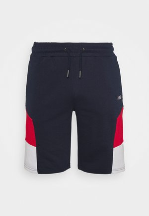 JUDA BLOCKED SHORTS - Short de sport - black iris/true red/bright white