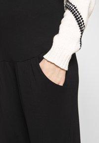 Dorothy Perkins Maternity - PLAIN JOGGER - Tracksuit bottoms - black - 4