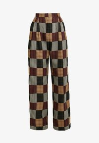 House of Holland - PATCHWORK WIDE LEG TROUSER - Trousers - red/blue/multi - 4