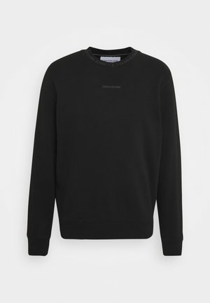 LOGO CREW NECK UNISEX - Sweatshirt - black