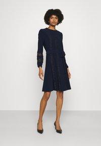 Lauren Ralph Lauren - MID WEIGHT DRESS COMBO - Cocktail dress / Party dress - lighthouse navy - 0