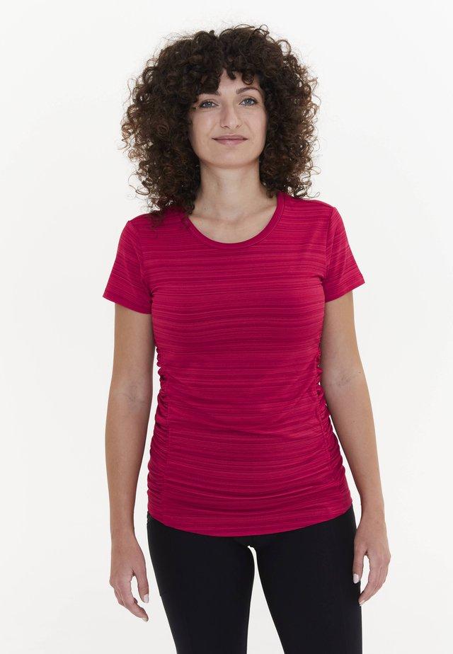 Print T-shirt - magenta