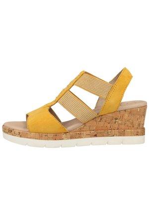 Wedge sandals - saffron 627