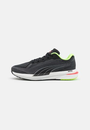 VELOCITY NITRO - Neutral running shoes - black/silver/sunblaze