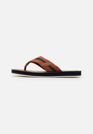BALSAM - T-bar sandals - rust