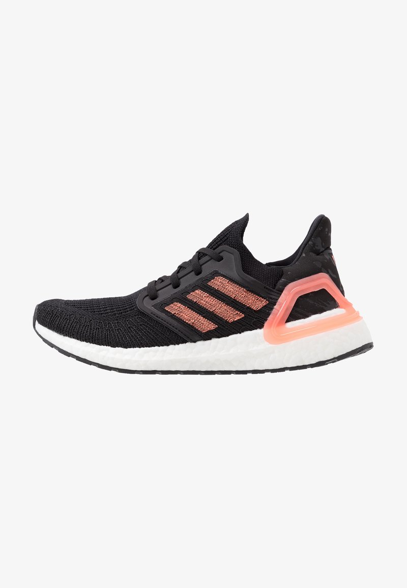 adidas Performance - ULTRABOOST 20  - Neutral running shoes - core black/signal coral/footwear white
