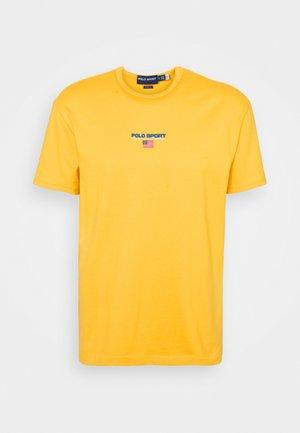 SHORT SLEEVE - T-shirt z nadrukiem - chrome yellow