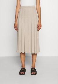 Filippa K - RUBY SKIRT - Áčková sukně - grey beige - 0