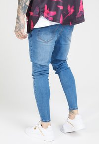 SIKSILK - PLEATED  - Vaqueros pitillo - blue - 2