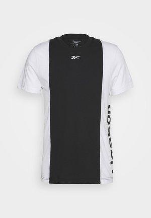 BLOCKED TEE - T-shirts print - black