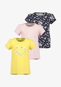 Blue Seven - DAISY FLOWERS - Print T-shirt -  korn  rosa nacht aop - 0