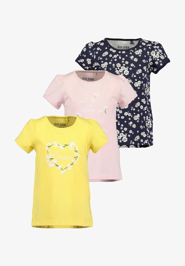 3ER PACK - T-shirt print -  korn  rosa nacht aop