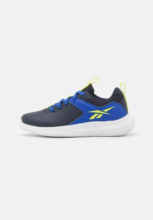 RUSH RUNNER 4.0 - Neutral running shoes - vector navy/bright cobalt/acid yellow
