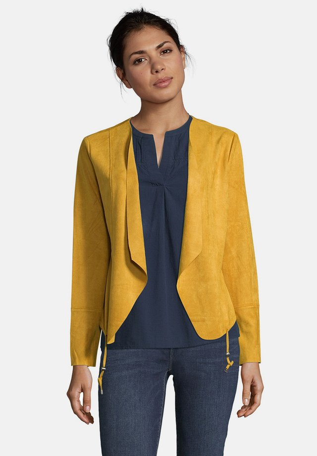 Faux leather jacket - golden glow