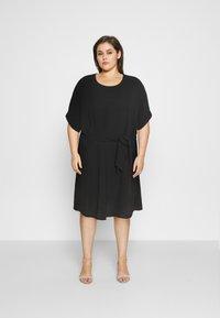 ONLY Carmakoma - CARJACKIE KNEE DRESS - Day dress - black - 0