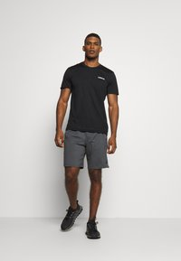 adidas Performance - TRAINING SPORTS SHORT SLEEVE TEE - Basic T-shirt - black/white - 1