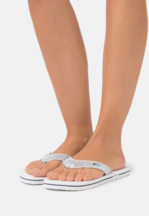 GLITTER THONGS - Sandály s odděleným palcem - white