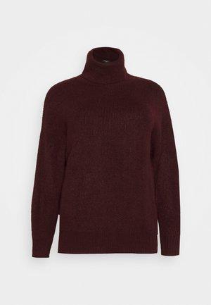 FASH SLOUCHY ROLL NECK - Jumper - dark burgundy