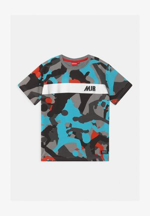 TAYO UNISEX - Print T-shirt - grey melange