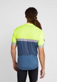 ODLO - STAND UP COLLAR FULL ZIP - Print T-shirt - safety yellow neon/bering sea - 2