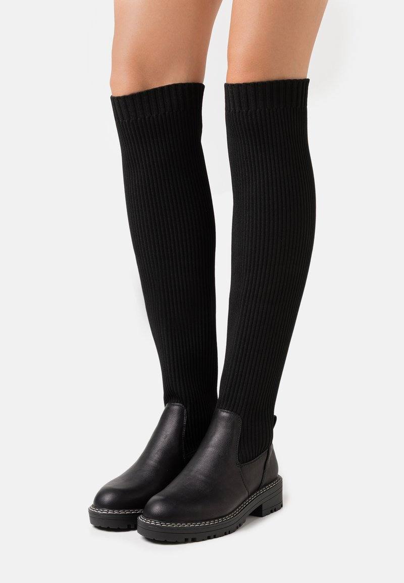 River Island Wide Fit - Over-the-knee boots - black