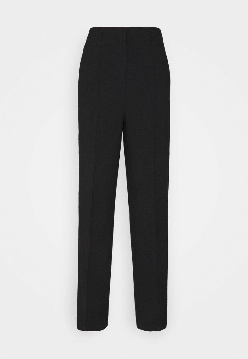 Marc O'Polo PURE - WIDE LEG PANTS SUMMER SUITIN - Pantalones - black