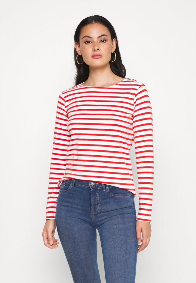Long sleeved top - off-white/red