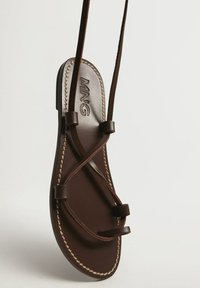 Mango - T-bar sandals - schokolade - 3