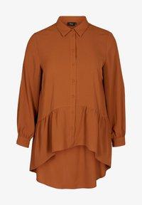 Zizzi - Button-down blouse - brown - 3