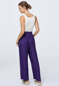 OYSHO - Kangashousut - dark purple - 3
